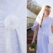Kostenlose Nähanleitung zur Hochzeit: Romantischer Brautgürtel mit Tüllblume