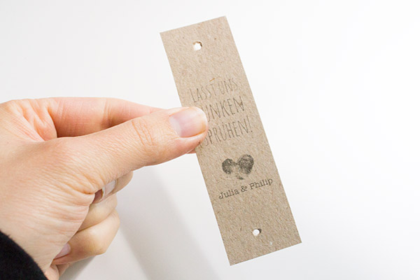 Hochzeits-DIY: Wunderkerzen-Etiketten