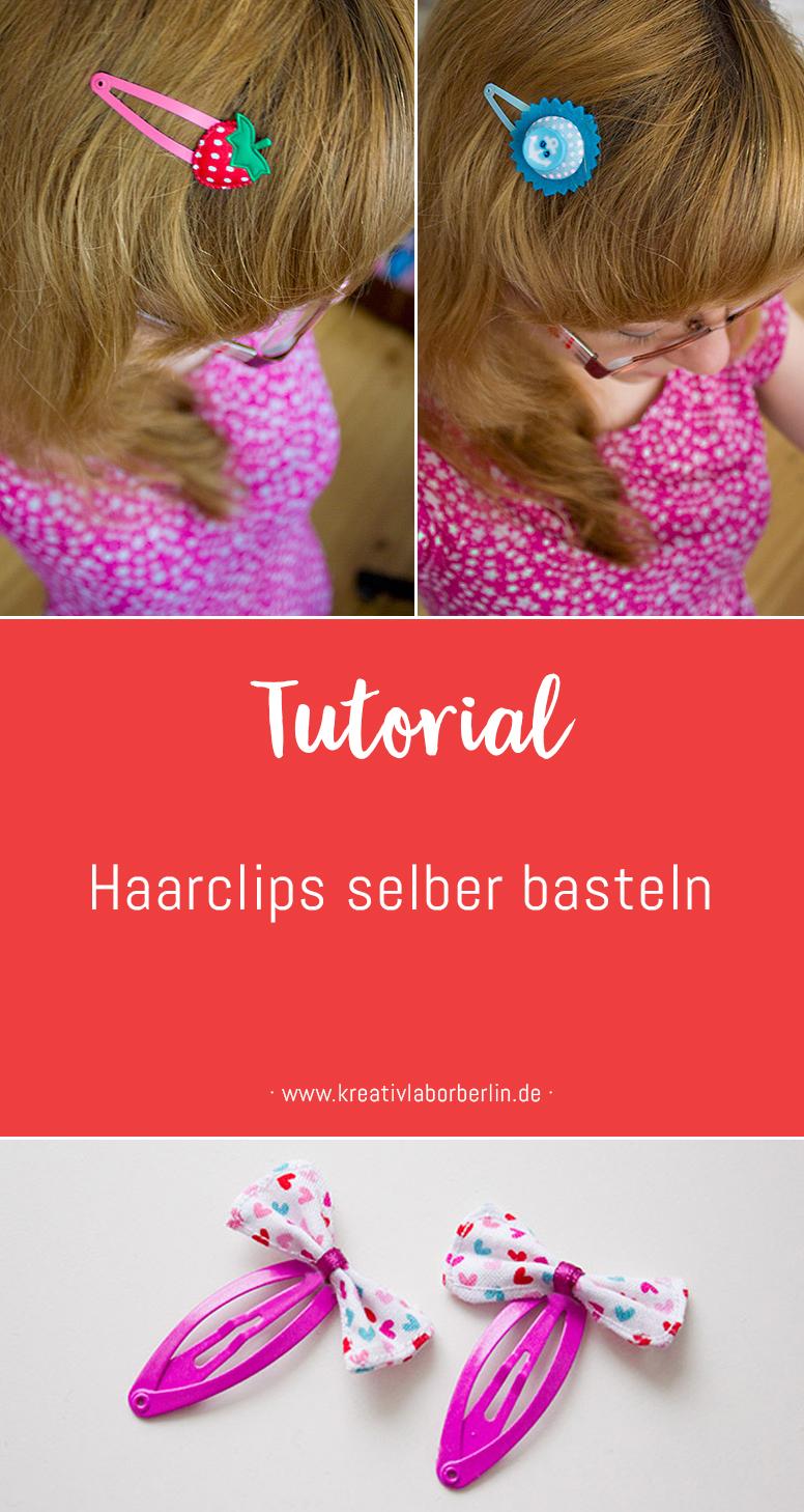 DIY Anleitung: Haarclips einfach selbstgemacht