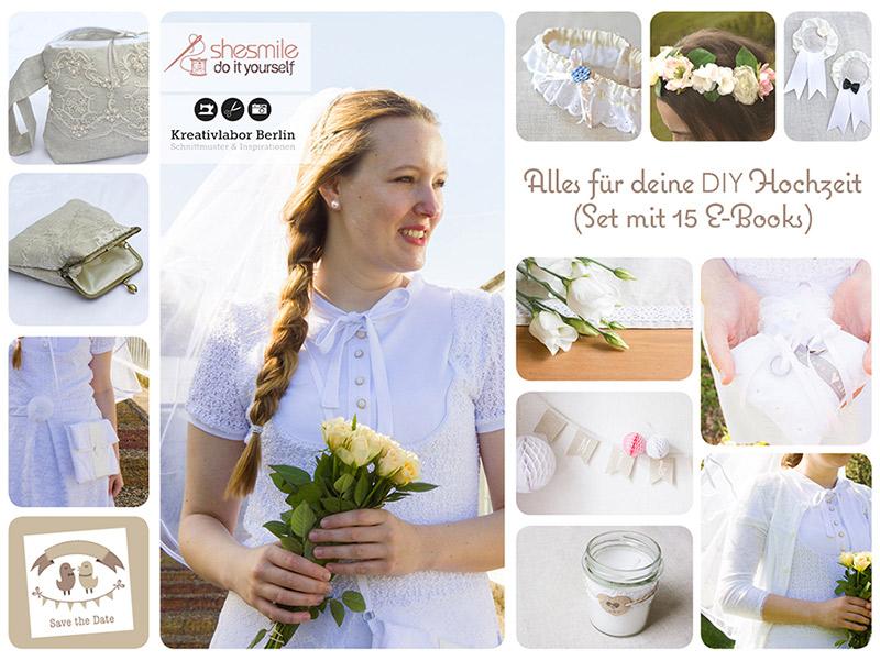 Neues Ebook-Set: Alles für deine DIY Hochzeit (Set mit 15 Nähanleitungen & Schnittmustern)