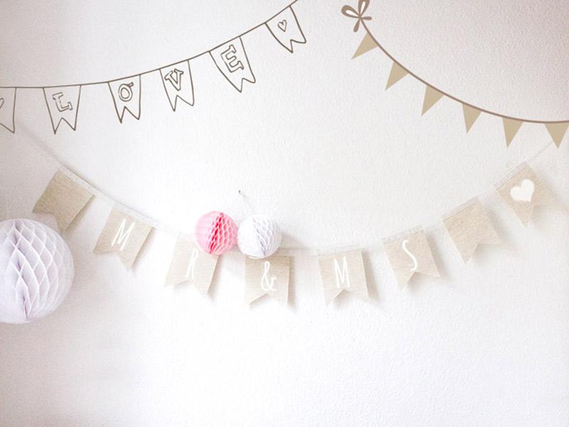 DIY-Anleitung zur Hochzeit: Wimpelketten nähen