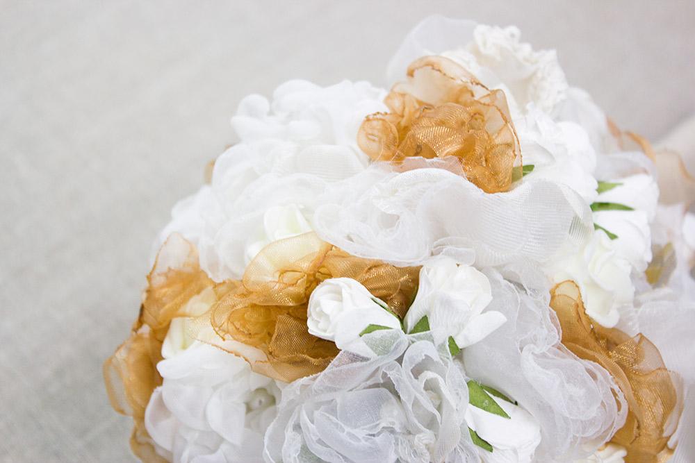 Anleitung Brautstrauß mit Stoffblumen