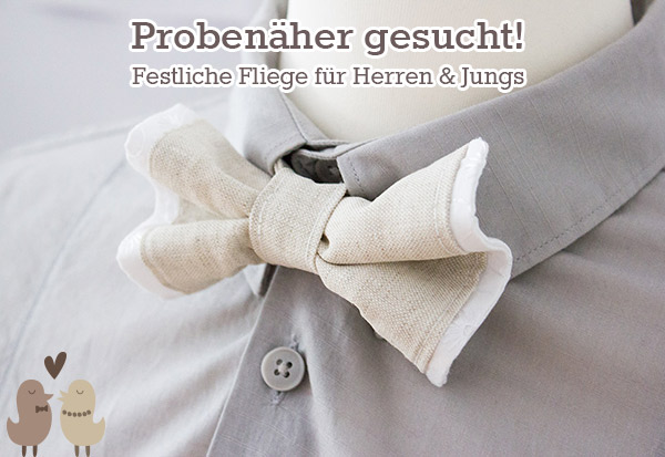 Probenäher gesucht: Festliche Fliege für Jungs & Männer ...