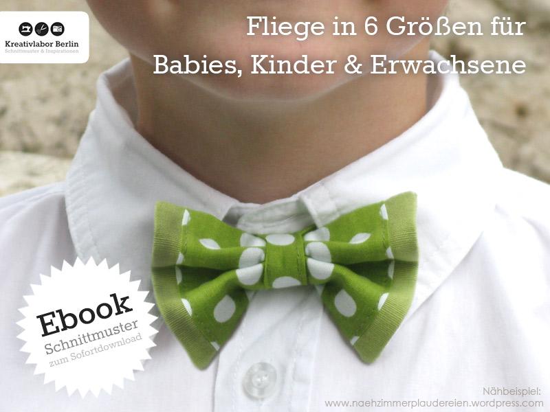 Mein neues Schnittmuster-Ebook ist da: Fliege für Erwachsene, Kinder & Babies