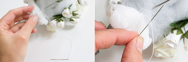 Anleitung Brautstrauß aus Stoffblumen