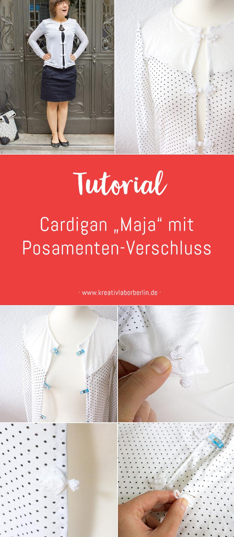 "DIY-Anleitung: Cardigan ""Maja"" mit Posamenten-Verschluss"
