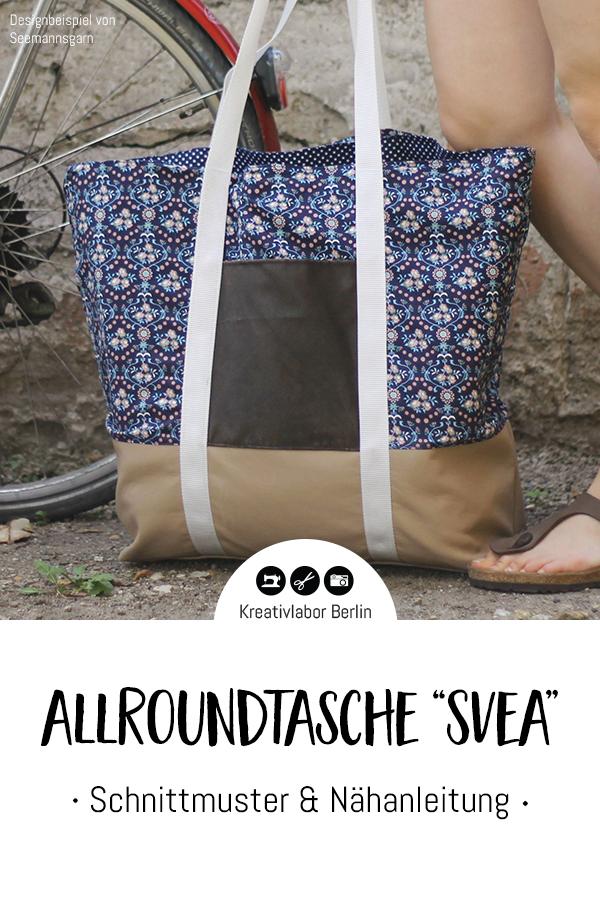 "Schnittmuster & Nähanleitung Allroundtasche ""Svea"""