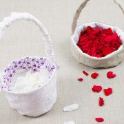 Neues Schnittmuster: Blumenkörbchen für die Hochzeit