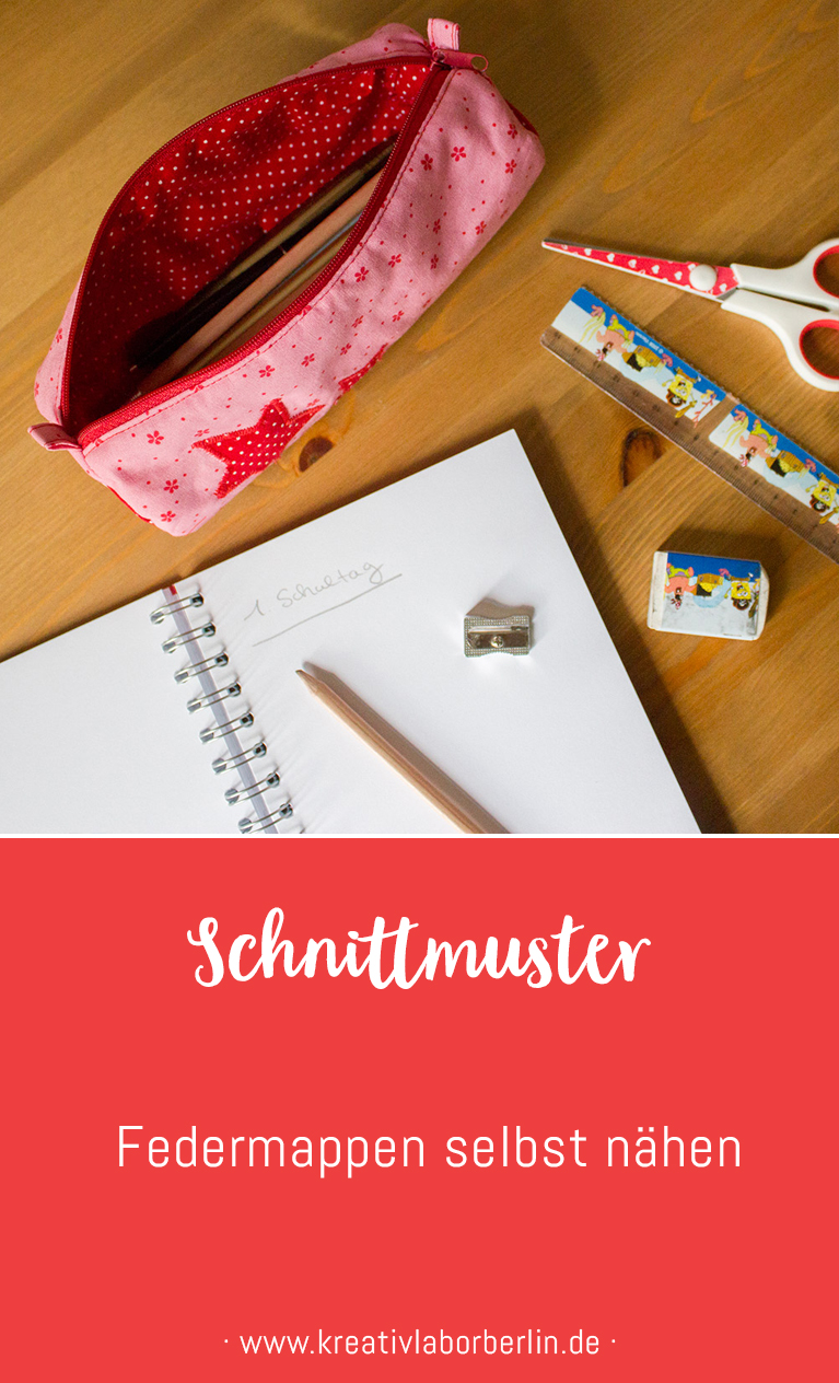 Schnittmuster & Nähanleitung Federmappen & Stift-Etuis selbst nähen