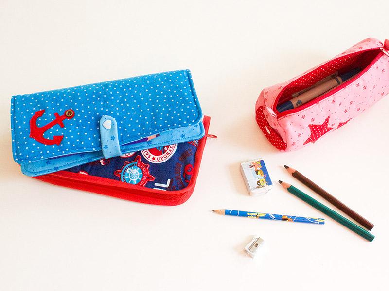 Nähen für den Schulanfang: Federmappen und Pinseltaschen + Gratis-DIY-Anleitungen
