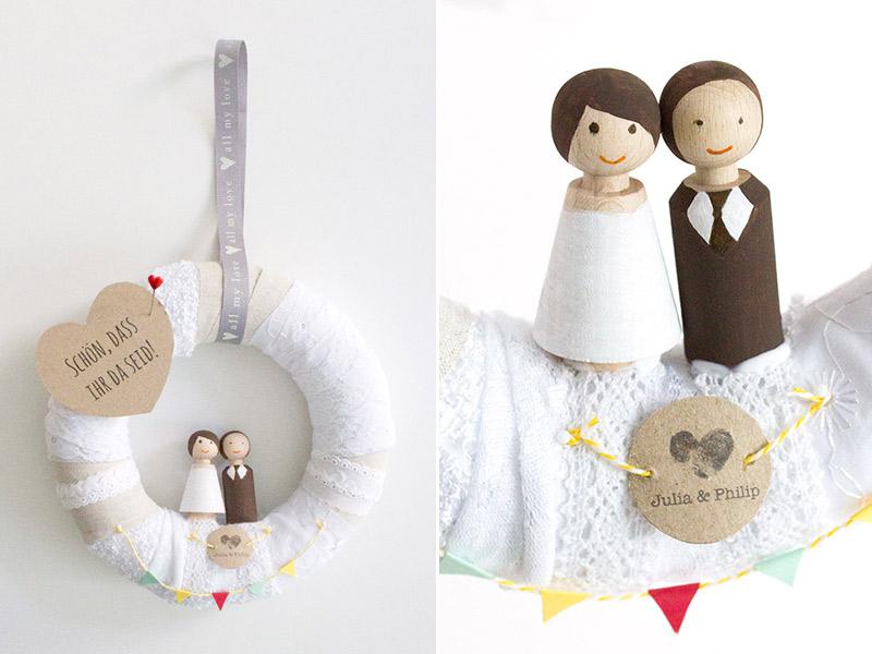 DIY-Anleitung: Willkommens-Kranz für die Hochzeitsfeier