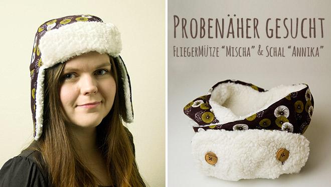 Probenähen Mütze und Schal