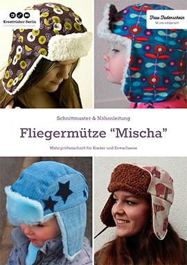 """Fliegermütze """"Mischa"""": Schnittmuster für Kinder und Erwachsene"""
