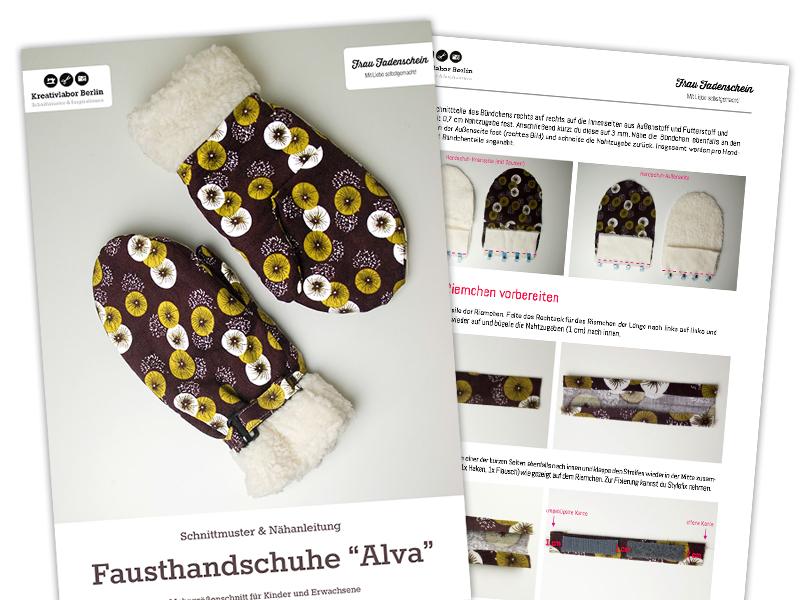 Neues Schnittmuster: Handschuhe für Kinder & Erwachsene ...