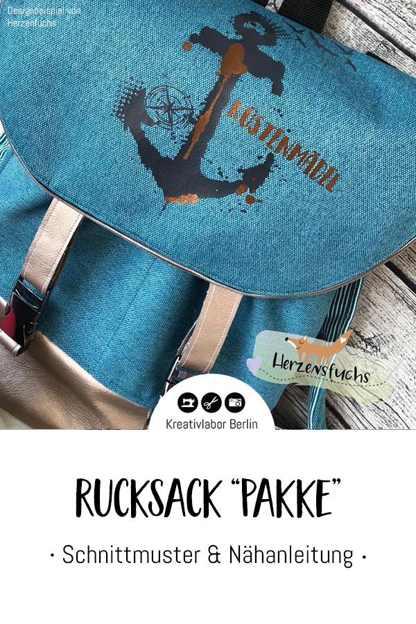 "Schnittmuster & Nähanleitung Rucksack ""Pakke"""