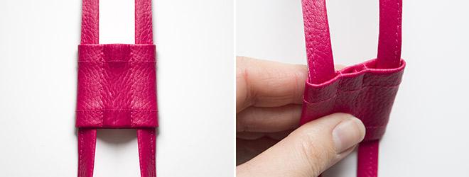 Kordelstopper aus Kunstleder oder Baumwolle nähen