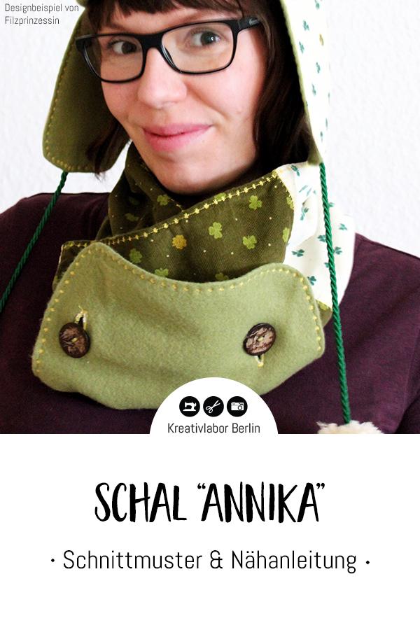 """Schnittmuster & Nähanleitung Schal """"Annika"""""""