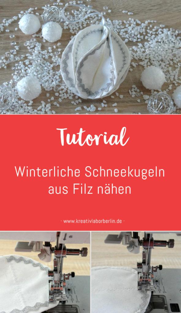 DIY-Anleitung: Eine Schneekugel nähen
