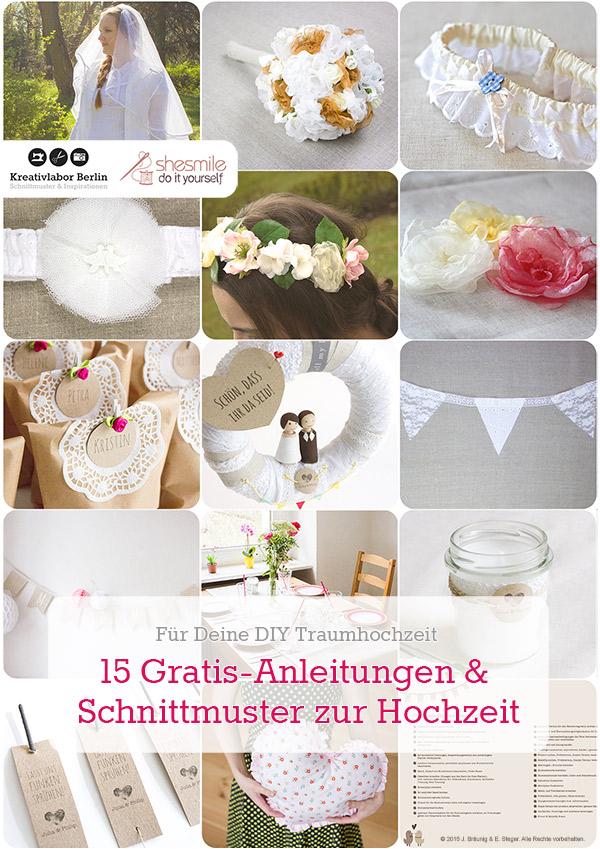 15 Gratis-Anleitungen zur Hochzeit
