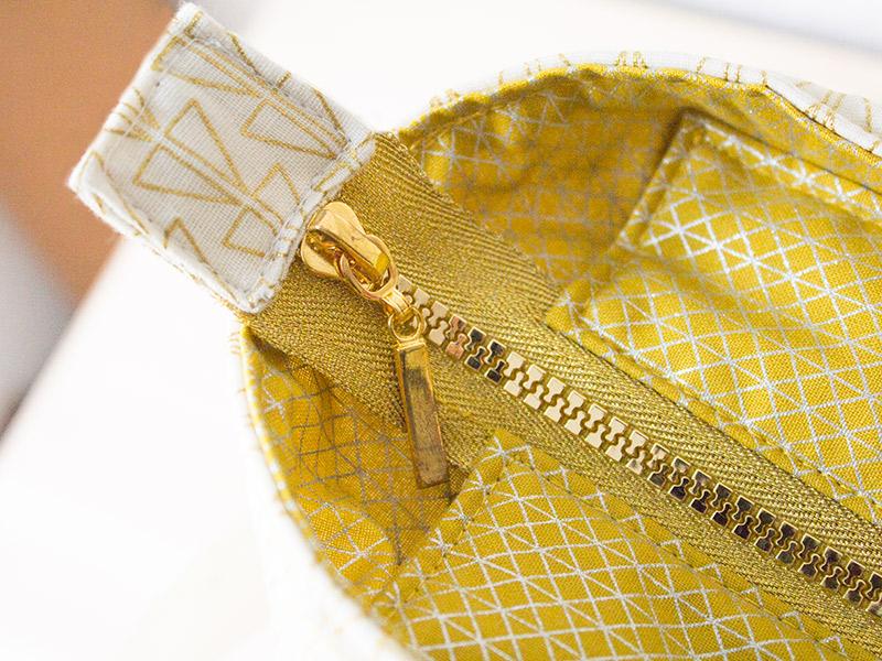 """Handtasche """"Svea"""" in Goldtönen"""
