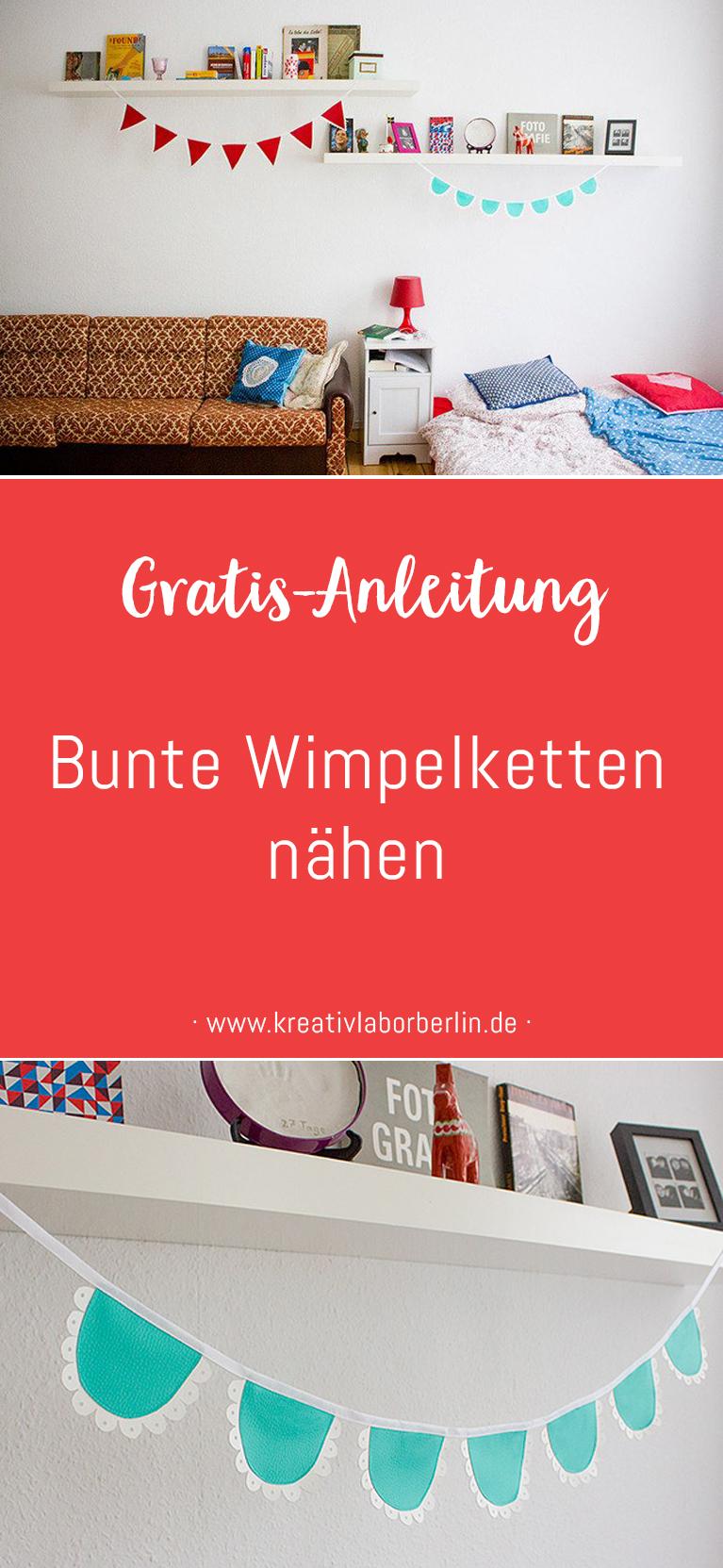 Anleitung Bunte Wimpelketten aus Kunstleder