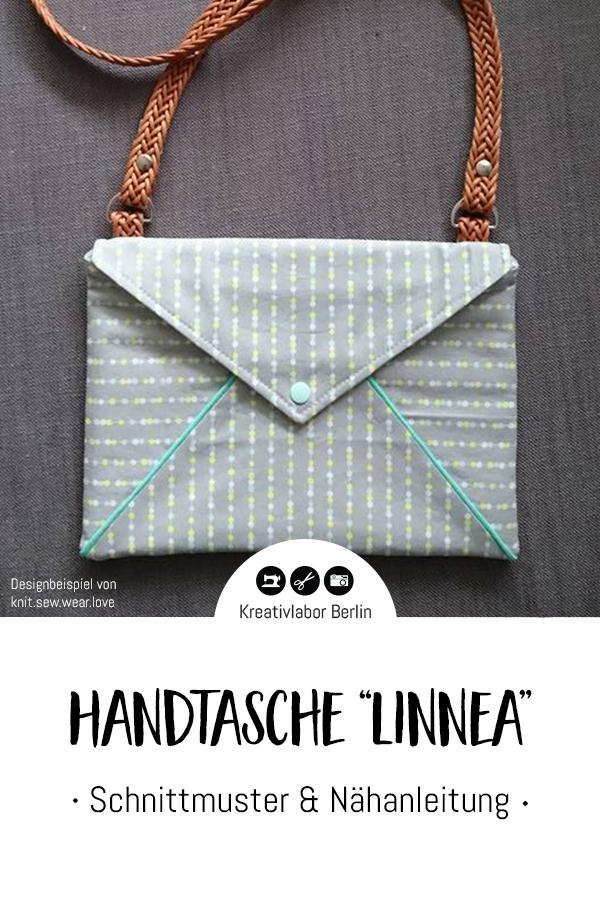 """Schnittmuster & Nähanleitung Handtasche """"Linnea"""""""