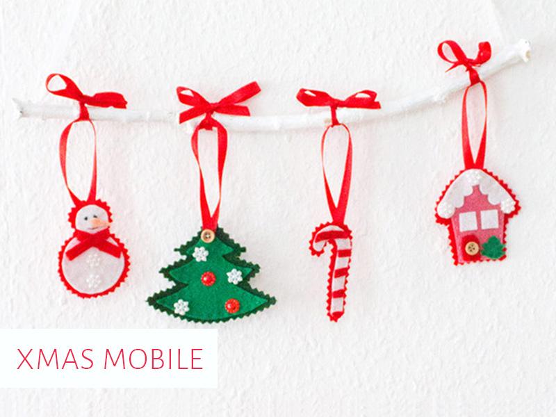 Diy anleitung weihnachtliches mobile mit filzfiguren - Diy mobel anleitung ...