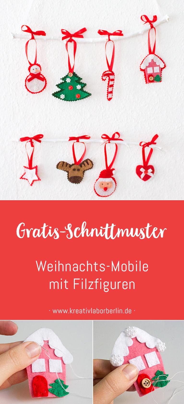 DIY-Anleitung: Weihnachtliches Mobile mit Filzfiguren