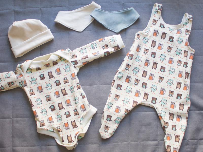 Genähte Babysachen und Stoff-Gewinnspiel