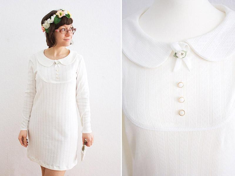 """Kleid """"Mathilda"""" aus Brautkleid nähen"""
