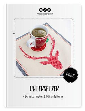 Winterlicher Tassen-Untersetzer (Mug rug)