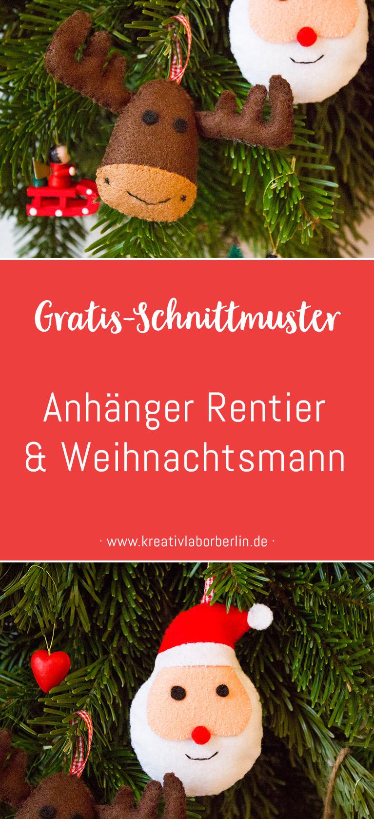 Schnittmuster & Nähanleitung Rentier & Weihnachtsmann