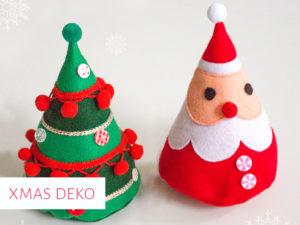 Weihnachtsmann und Weihnachtsbaum aus Filz