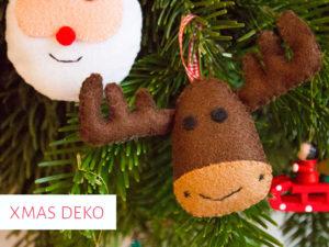 Weihnachtliche Anhänger aus Filz