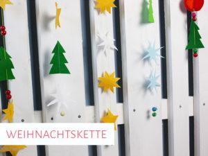 Weihnachtsketten aus Filz & Papier