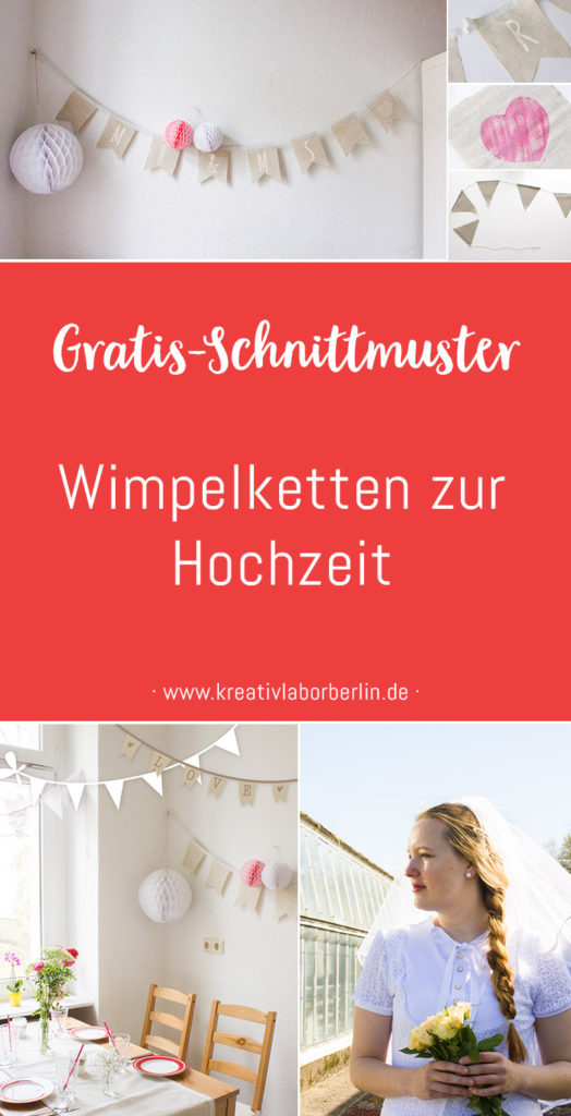 Schnittmuster & Nähanleitung Wimpelketten zur Hochzeit