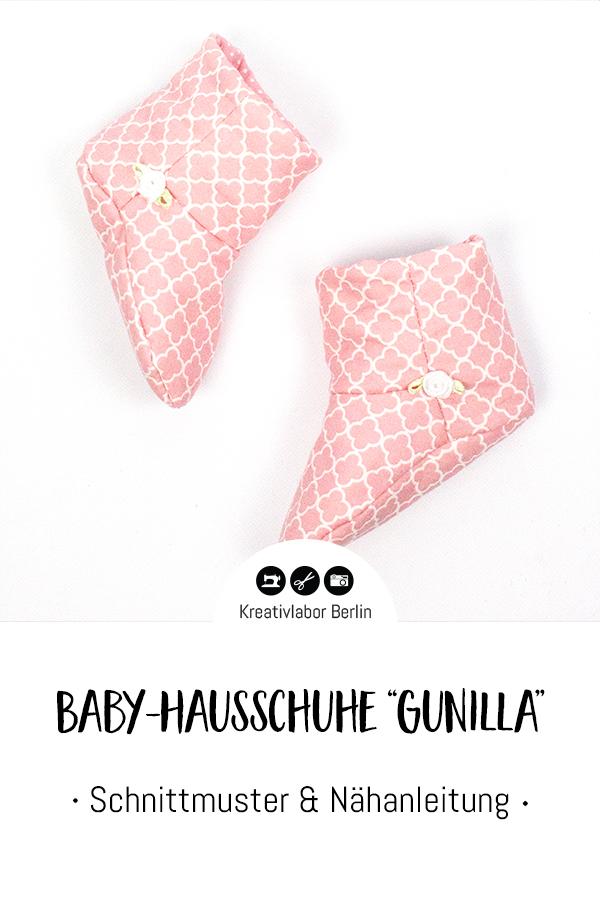 """Schnittmuster & Nähanleitung Baby-Hausschuhe """"Gunilla"""""""