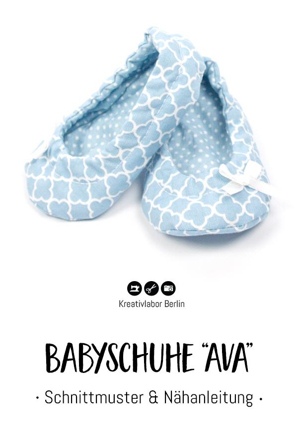 """Schnittmuster & Nähanleitung Babyschuhe """"Ava"""""""