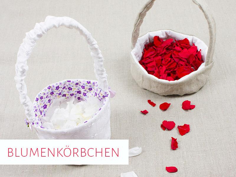 Blumenkörbchen für die Hochzeit