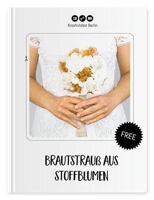 Brautstrauß mit Stoffblumen