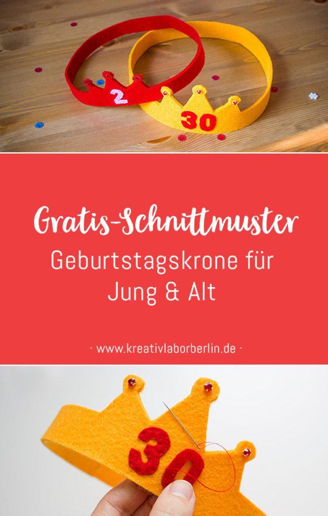 Geburtstagskrone aus Filz für Jung & Alt