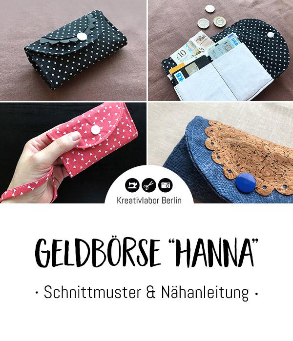 "Schnittmuster & Nähanleitung Geldbörse ""Hanna"""
