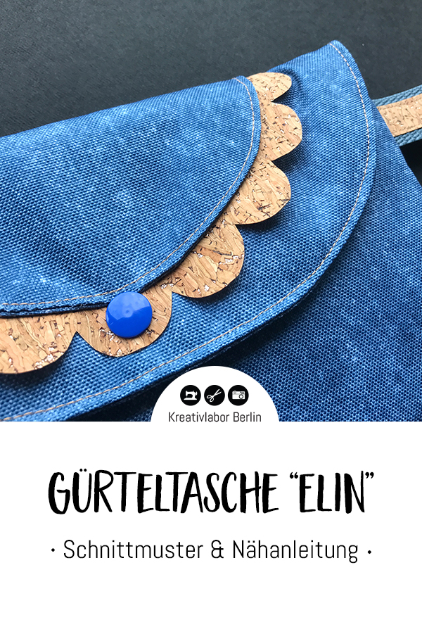 "Schnittmuster & Nähanleitung Gürteltasche ""Elin"""
