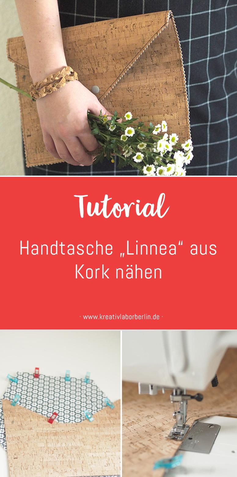 "Nähen mit Svenja: DIY-Anleitung Handtasche ""Linnea"" aus Kork nähen"