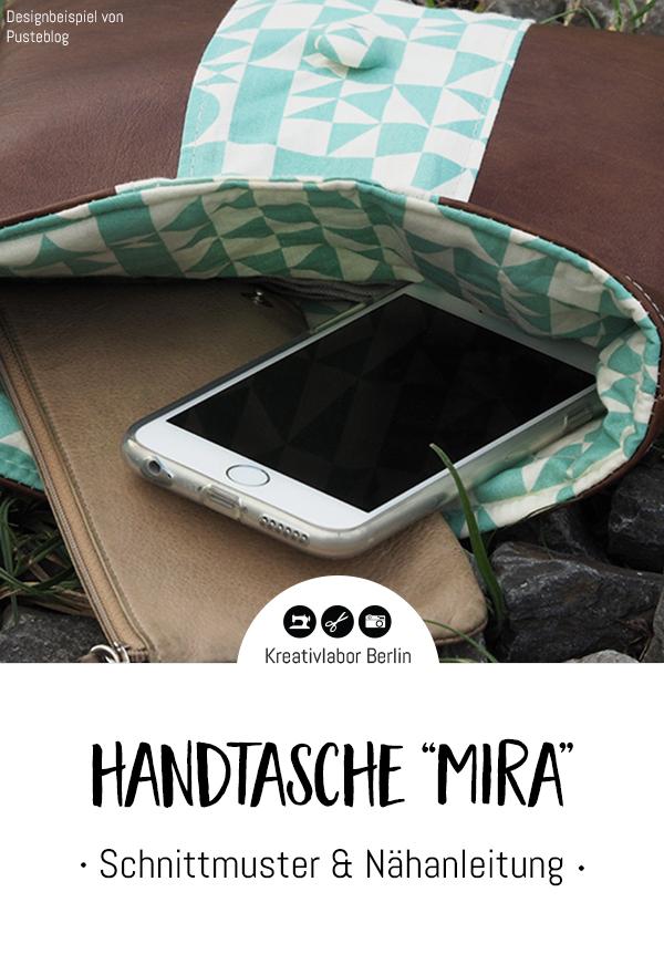 """Schnittmuster & Nähanleitung Handtasche """"Mira"""""""