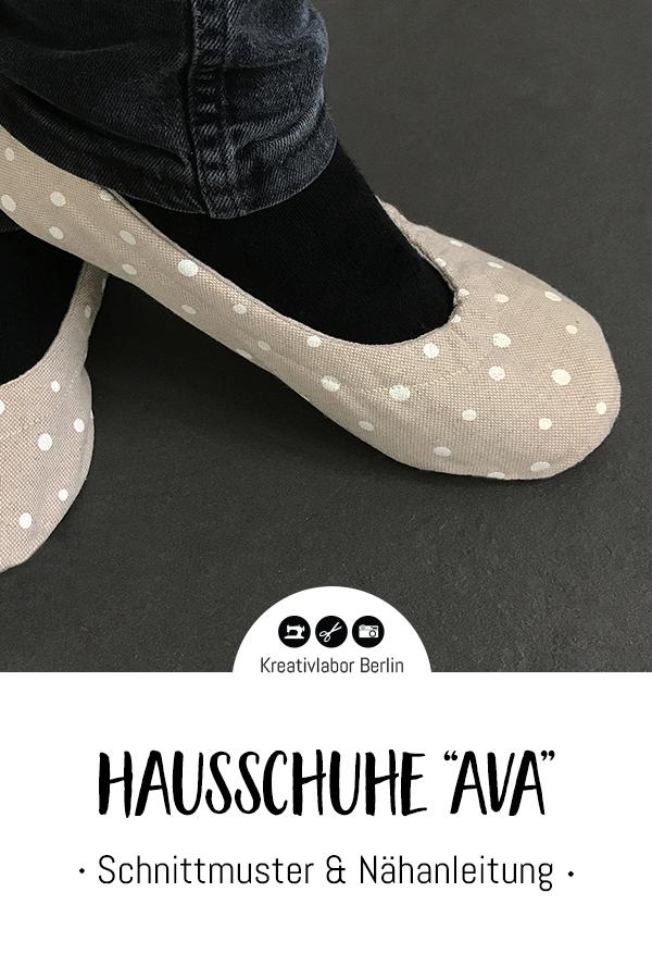 """Schnittmuster & Nähanleitung Hausschuhe """"Ava"""""""