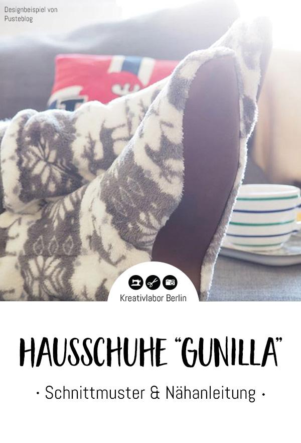 Schnittmuster & Nähanleitung Hausschuhe Gunilla