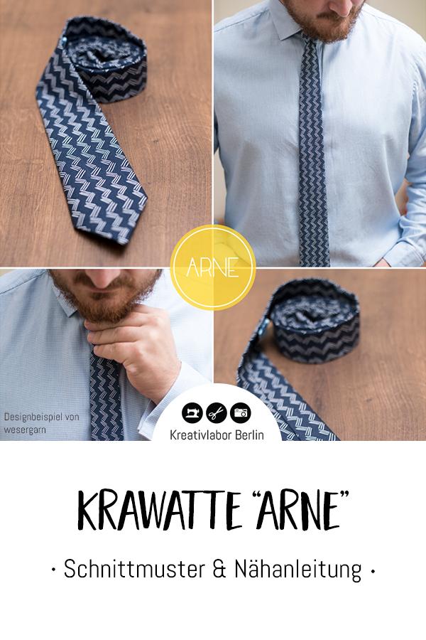"Schnittmuster & Nähanleitung Krawatte ""Arne"""