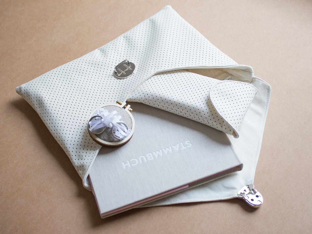 Braut-Accessoires aus Kunstleder nähen: Clutch, Geldbörse und ...