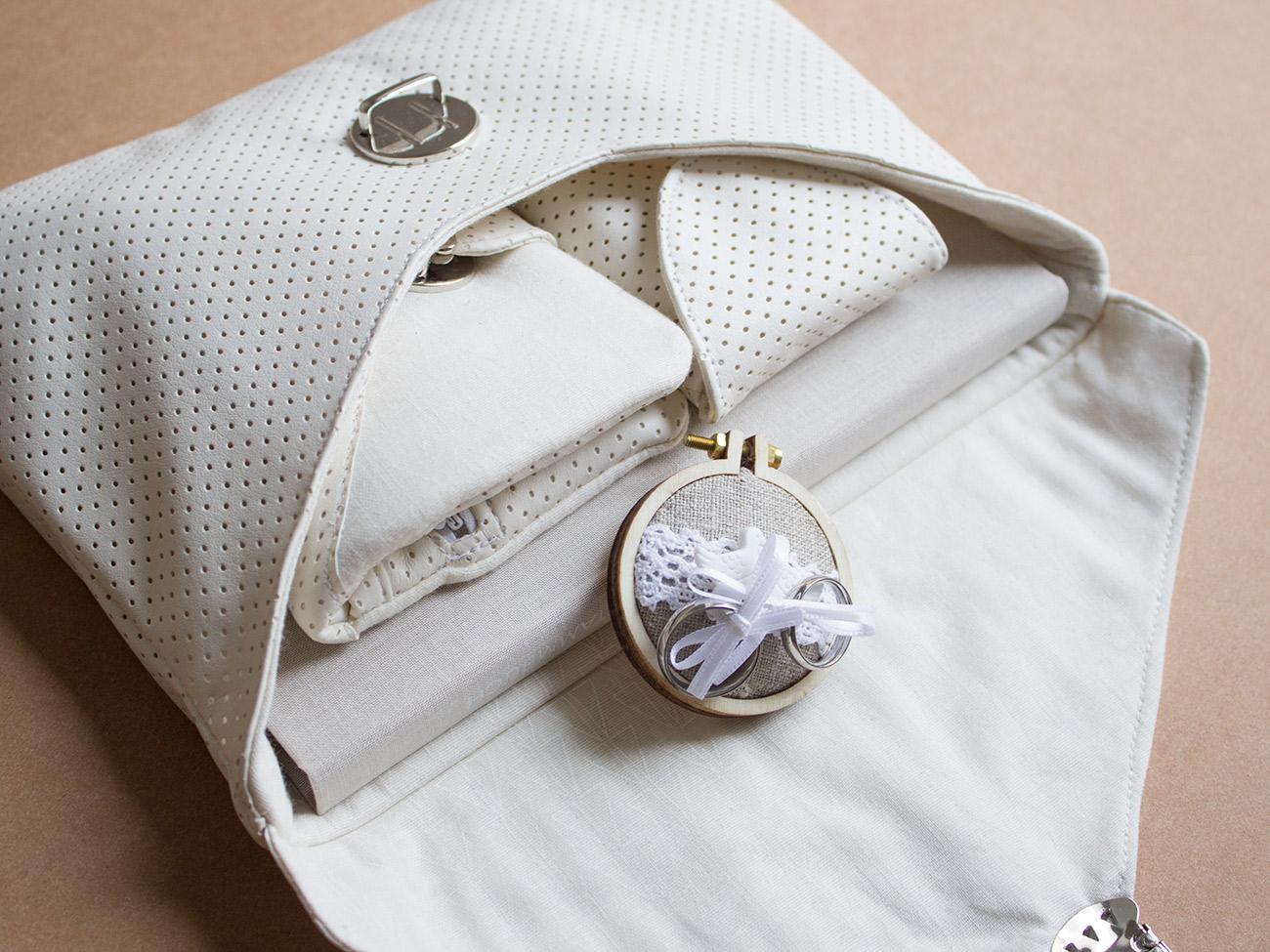 Braut-Accessoires aus Kunstleder nähen: Clutch, Geldbörse und Handytasche